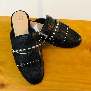 a new day backless loafers in black